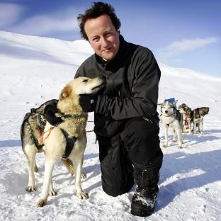 WWF-UK took David Cameron to the Arctic in 2006 where he posed with a husky in an image that suggested his concern for the environment
