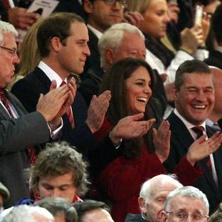 The Duke and Duchess of Cambridge watch Wales face New Zealand at the Millennium Stadium, Cardiff