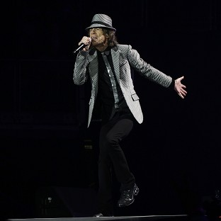 Mick Jagger of The Rolling Stones performs at the O2 Arena in London