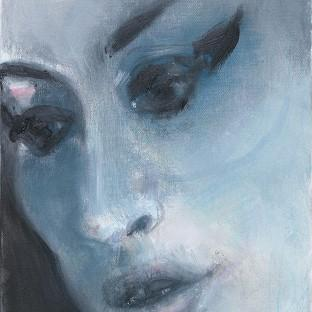 This painting of singer Amy Winehouse by Marlene Dumas has gone on show at the National Portrait Gallery in London