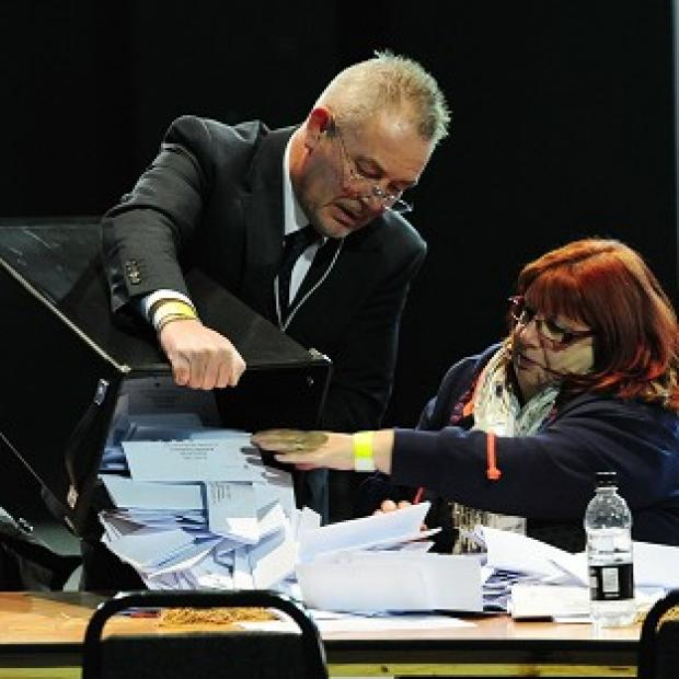 Andover Advertiser: Counting of the votes in the Rotherham by-election takes place at the Magna Science Centre