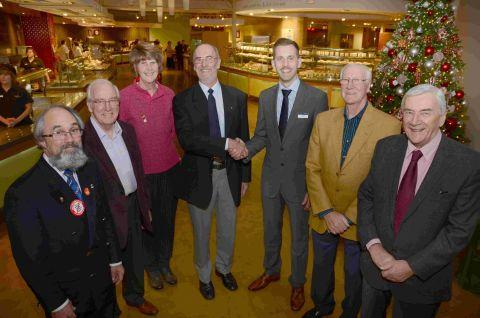 Shaun Butler, organiser (centre) with Matt Hill (third right) and representatives of the Hampshire rotary clubs