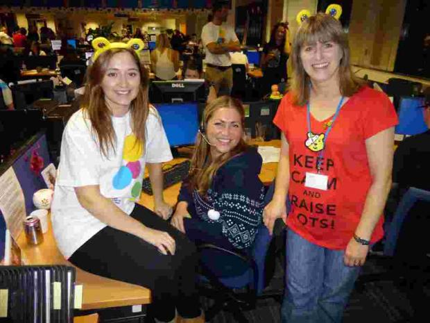 Andover Advertiser: L-R: AXA Wealth colleagues Hannah Plokta, Suzanna Hawkins and Ruth Balnave
