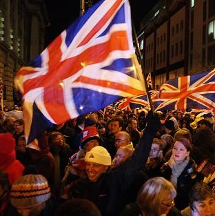 Loyalist protesters opposed to new restrictions on flying the Union flag are staging another demonstration in Belfast