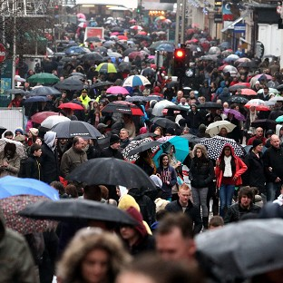 Shoppers storm the high streets