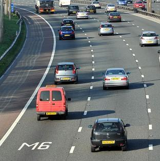 The M6 motorway was closed in both directions between junctions 14 and 15 after the incident