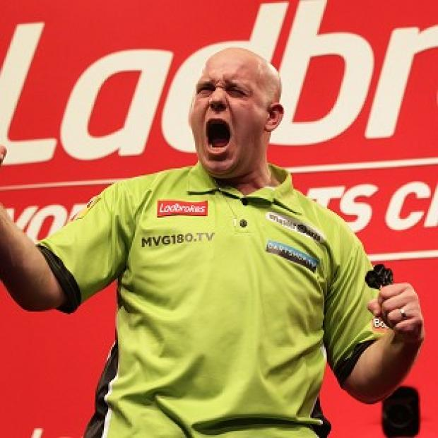 Michael van Gerwen, pictured, will play Phil Taylor in the World Darts Championship final