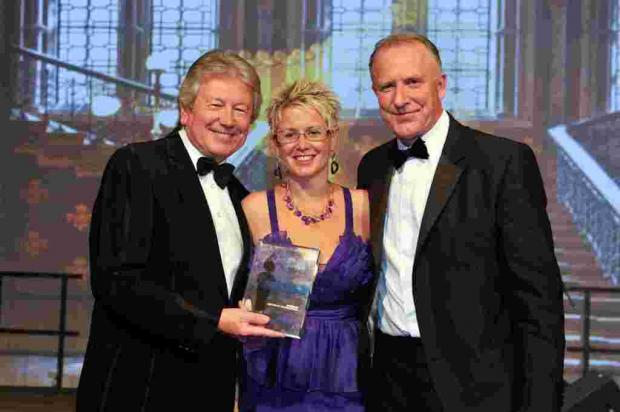 Jane Zollo with Travel Counsellors' chairman David Speakman and sales director Malcolm Hingley