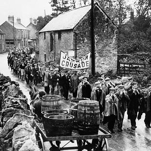 The Jarrow marchers pass through Lavendon on their way to protest in London about unemployment in 1936