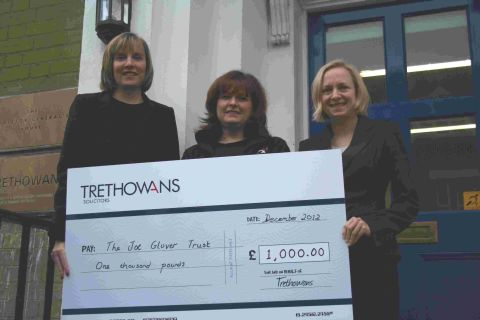 (L-r) Suzanne Foster (Trethowans), Jane Wilmshurst (the Joe Glover Trust) and Bethany Blamire (Trethowans).