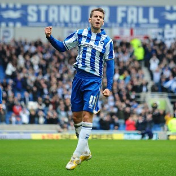 Andover Advertiser: Andrea Orlandi was on target with Brighton's opener in their victory over Newcastle