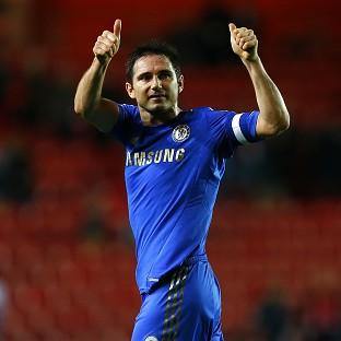 Frank Lampard looked particularly emotional during his celebrations against Southampton
