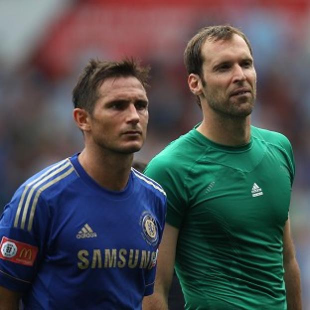 Petr Cech, right, thinks Frank Lampard could yet stay at Stamford Bridge