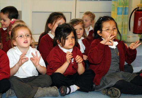 Pupils from Park View Infant School taking part in the event last year