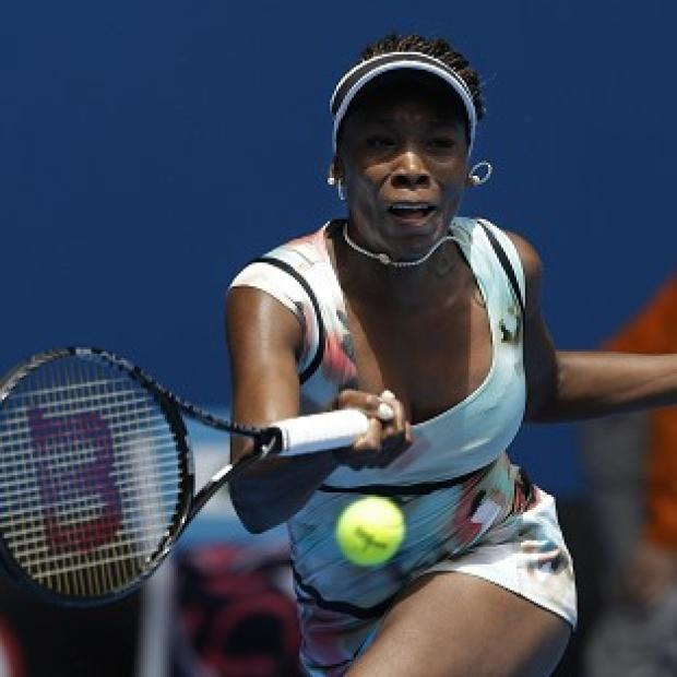 Venus Williams makes a forehead return during her dominant first-round victory in Australia (AP)