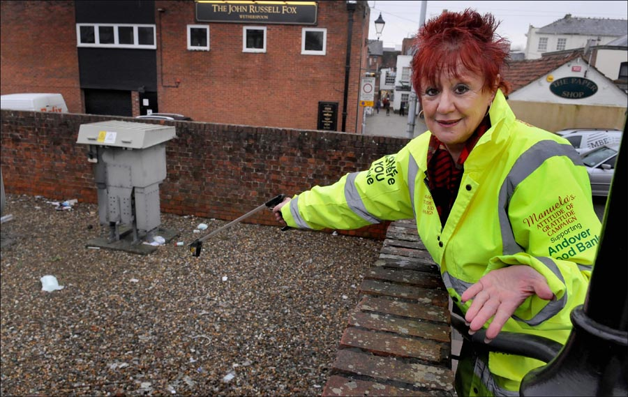 Litter campaigner's shock at finding dumped soiled nappies