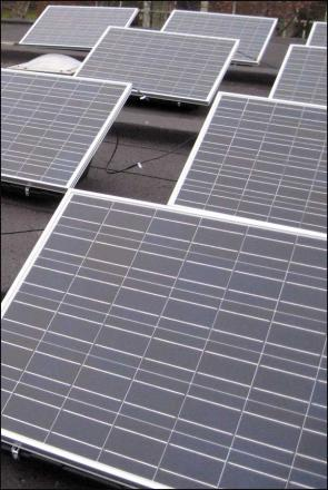 Solar panels will be used to help carbon reduction