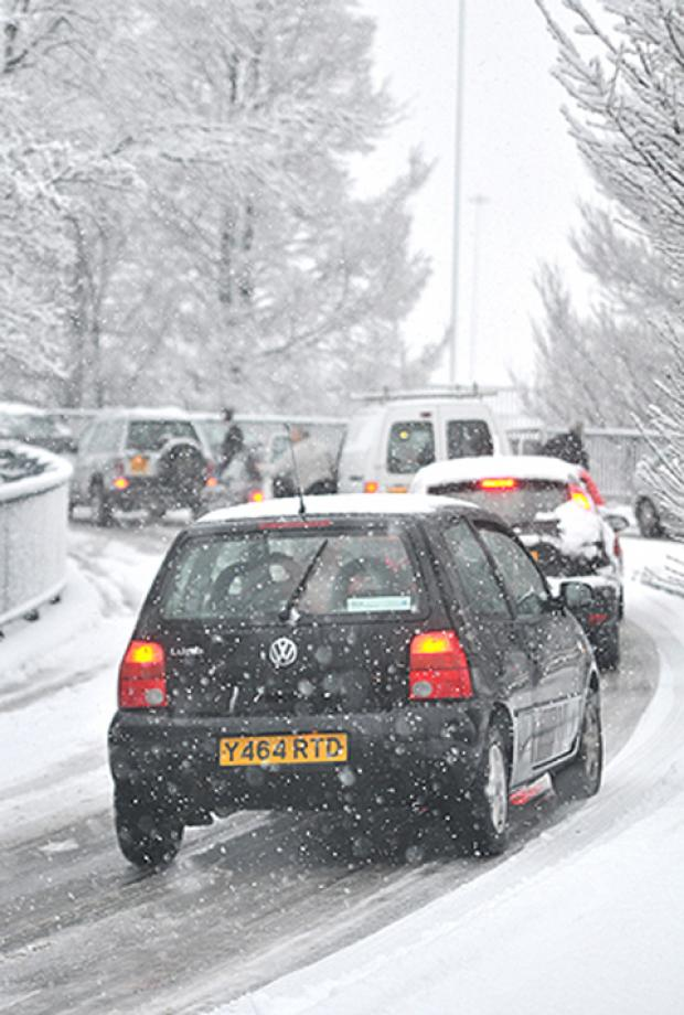 Heavy snow is forecast in Hampshire on Friday