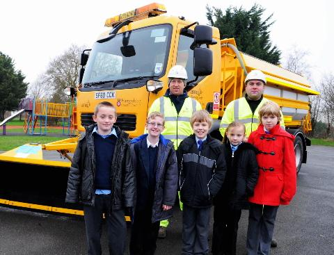 Gritters go to school for winter lesson