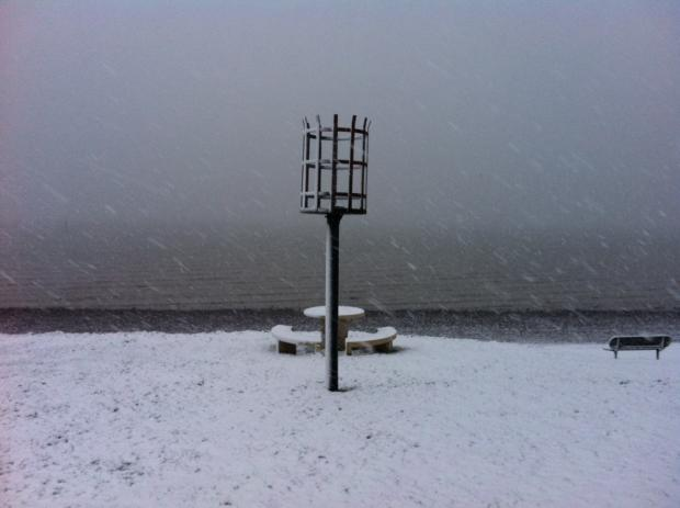 Netley shore in the snow