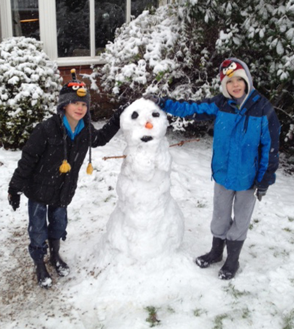 Andover Advertiser: A snowman sent in by Paddy.