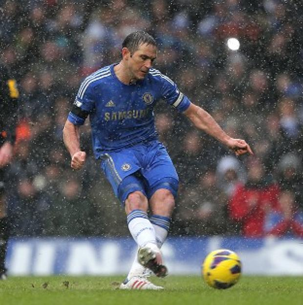 Frank Lampard's penalty proved to be the winner at Stamford Bridge