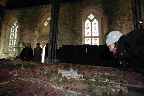 Visitors admire the model of 1870s Winchester