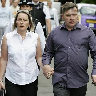 George Kinsella, pictured right with wife Debbie, feels that the father of one of their son's killers has benefitted from the murder