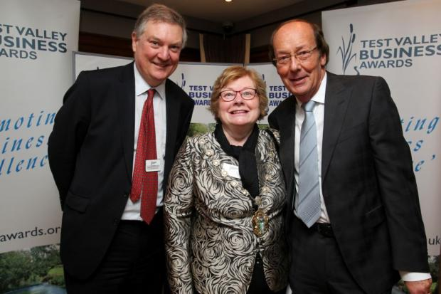 Andover Advertiser: Fred Dinenage with Test Valley Borough Council economic development officer David Gleave and Cllr Dorothy Baverstock.