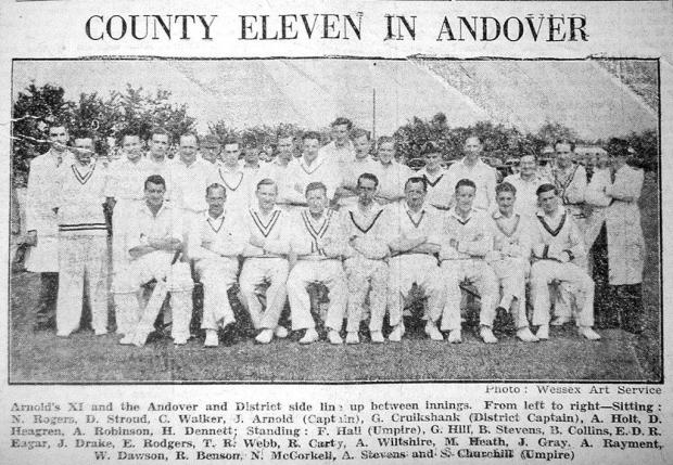County XI v Andover XV in 1950
