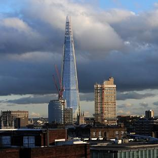 The Shard towers over London at a height of 1,016ft
