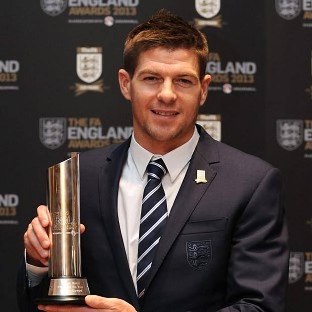 Steven Gerrard won England's player of the year award for the second time on Sunday night
