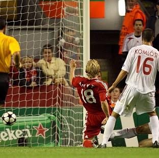 Dirk Kuyt scores Liverpool's winner in the game which is now under investigation