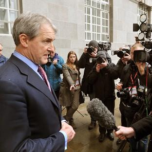 Andover Advertiser: Environment Secretary Owen Paterson speaks to the media outside Defra headquarters in central London