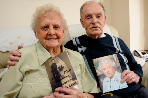 Vera and Edwin Stanway celebrate their 70th wedding anniversary