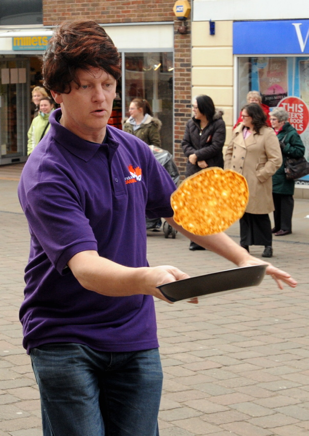 Alun Grace flipping a pancake back in 2012
