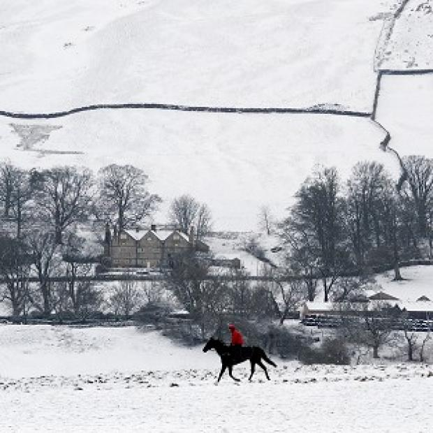 Snow has hit much of the country on Wednesday