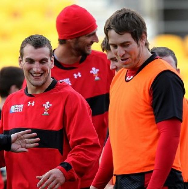 Sam Warburton, left, is close friends with Ryan Jones, right