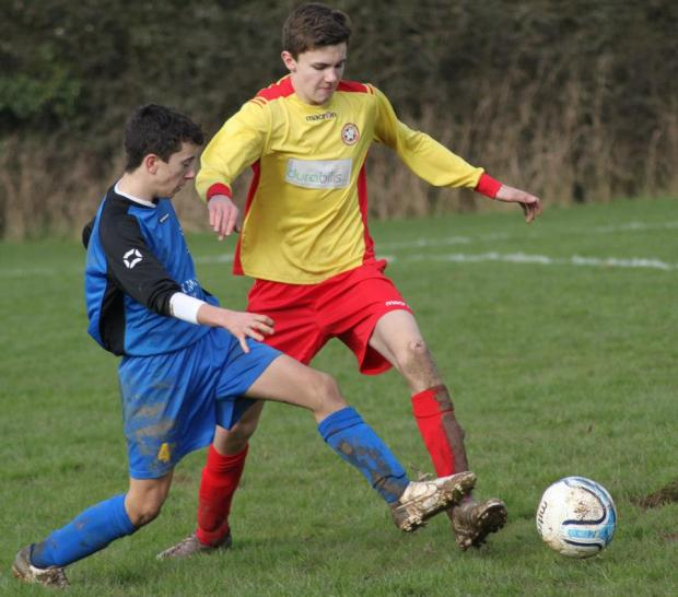 Action from Lee Filters U16s at Bishops Waltham
