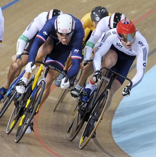 Jason Kenny, right, is into the keirin final