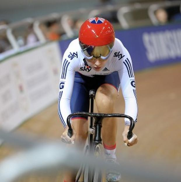 Laura Trott, pictured, trails leader Sarah Hammer with just two events left