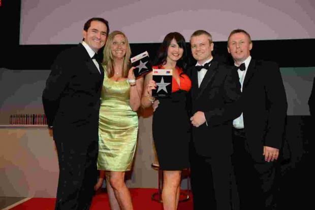 Andover Advertiser: Jane Austen and Natalia Escandell with top Adecco management at the company's annual awards