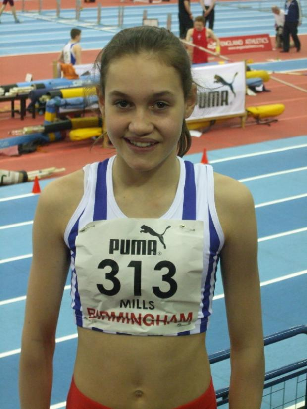 Holly Mills was in sparkling form in Birmingham at the weekend