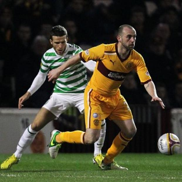 James McFadden, right, was back in the starting line up for Motherwell