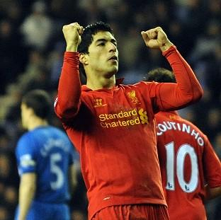 Luis Suarez scored a hat-trick to take his tally in the Premier League to 21 this season