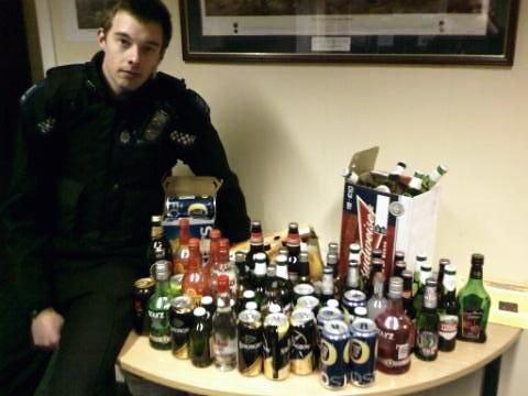 Alcohol seized after Facebook posted party