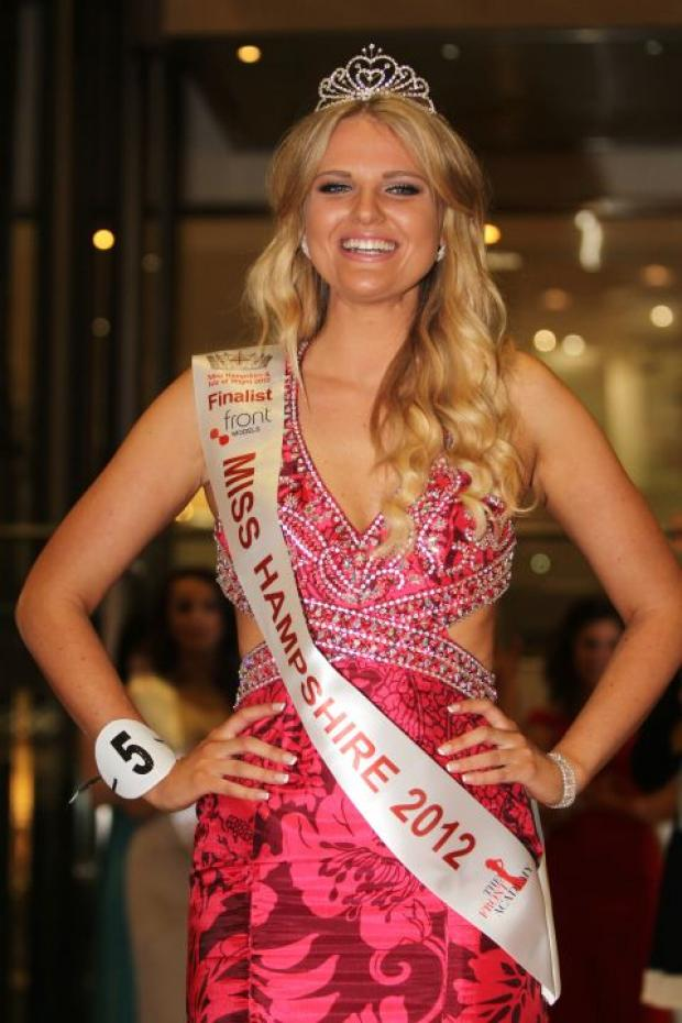Last year's Miss Hampshire and Isle of Wight, Grace Levy
