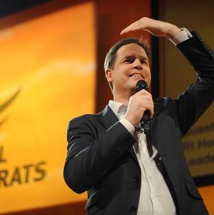 Deputy Prime Minister and Liberal Democrat leader Nick Clegg holds a question and answer session