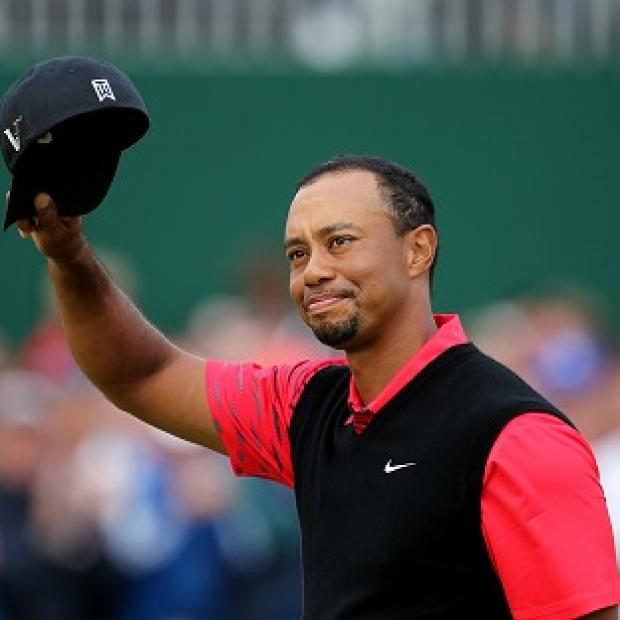 Tiger Woods carded seven birdies and only two bogeys en route to the lead