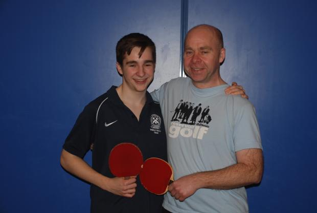 Tomos and Keith Hardiman took the Handicap Doubles final